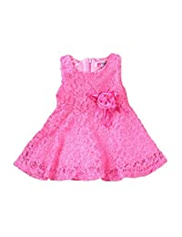 FEITONG Fashion Girls Kids Lace Floral Princess Party Dress