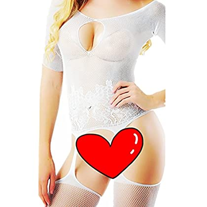 9ac3685428 Daisland Women Sexy Lingerie Sleepwear Nightwear Fishnet Bodystocking  Bodysuit
