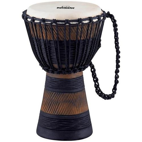 Nino Percussion NINO-ADJ3-S Small 8-Inch African Style Rope Tuned Djembe, Earth Series by Nino Percussion