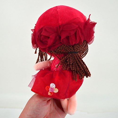 20CM ABBY Enfant Poup/ées de Chiffon Poup/ée Princesse Mignonne en Peluche B/éb/é Doudou Poupon Cadeau Journ/ée des Enfants Anniversaire Saint-Valentin Mariage Couleur Rouge Taille