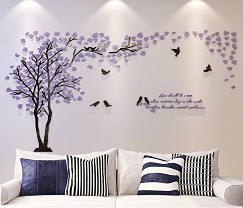 Product Photo 3d Couple Tree Wall Murals For Living Room Bedroom Sofa  Backdrop Tv.. Product Photo
