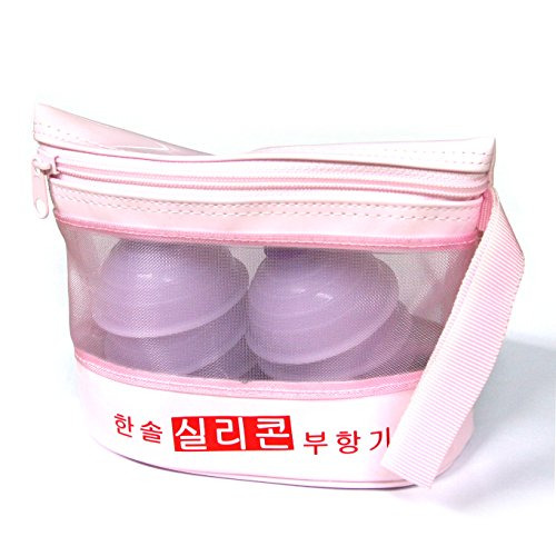 Hansol One Touch Silicon Cupping 10p Set with Pouch case Acupuncture Full Body (Curve Silicone Case)