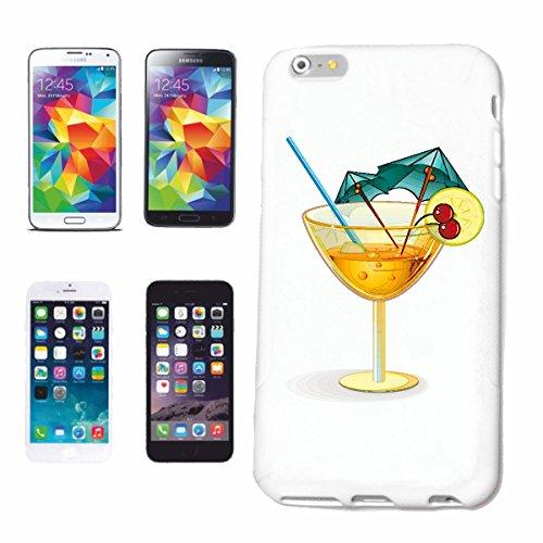 """cas de téléphone iPhone 6+ Plus """"COCKTAIL AUX CERISES ET DECORATION LONGDRINK Softdrink APPETIZER"""" Hard Case Cover Téléphone Covers Smart Cover pour Apple iPhone en blanc"""