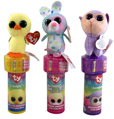 Beanie Boo's Plush Sticker Dispenser with Jelly Beans Easter