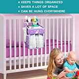 Hanging Diaper Caddy - Diaper Organizer for Crib
