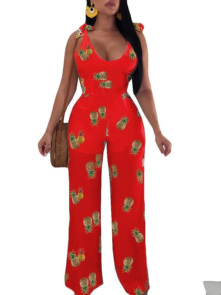 MOMTUESDAYS2 Womens Spaghetti V Neck Floral Print Hollow Waist Short Romper Jumpsuit