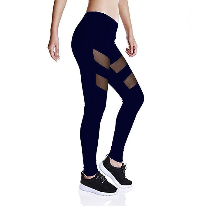 GOMNEAR Malla Yoga Pantalones Leggings De Cintura Alta ...