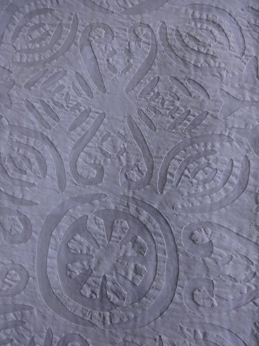 Queen Applique Bedding India, Hand Made Bedspread, Cutwork Bedspread, White Color Queen size hand made bedspread, Traditional Art India by Trade Star Exports (Image #2)