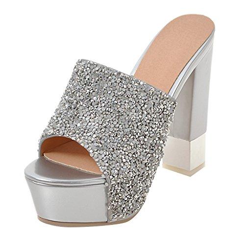 Cuentas de Mujer plata con Destalonada JYshoes q6x7Z8Hw