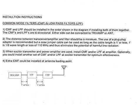 RF Inquiry CF5KV 5KW Amateur Ham CB 2-way Radio Hi-Q Common Mode Filter