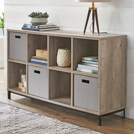 Better Homes and Gardens Cube Organizer with Metal Base (Rustic Gray, 8) from Better Homes & Gardens