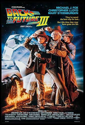 BACK TO THE FUTURE PART III MICHAEL J. FOX STRUZAN ART 1990 ORIGINAL 27X40 DS ONE SHEET MOVIE POSTER ROLLED