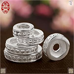 Beads & Jewelry Making Obedient 50 Silver Color Short Spacer Beads Fit Charm Bracelet Beads