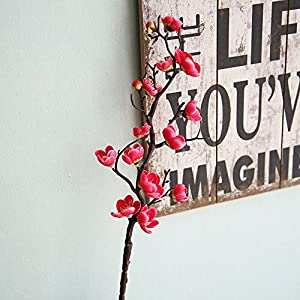 Birdfly Artificial Plum Blossom for Bridal Bouquet Wedding Home Decoration 15