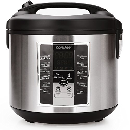 (Rice Cooker, 6-in-1 Electric Hot Pots,Slow Cooker, Sauté, stew pot,soup pot,Steamer, Food Warmer 650W by Comfee)