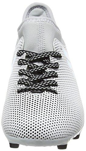 adidas X 17.3 FG J, Botas de Fútbol Unisex Niños Multicolor (Ftwr White/energy Blue /clear Grey )