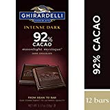 Ghirardelli Intense Dark Chocolate Bar - 92% Cacao - Dark chocolate with fruit-forward and earthy notes - 3.17 oz. (90g)