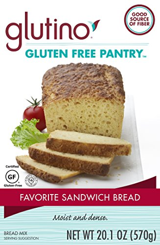 Mix Wheat Bread Free (Glutino Gluten Free Pantry Favorite Sandwich Bread Mix, 20.1 oz., 6 Count)