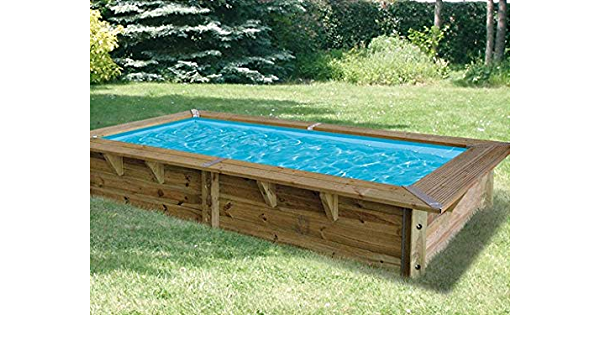 Ubbink piscina madera Azura 3, 50 x 2, 00 x 0, 71 m Liner Azul ...