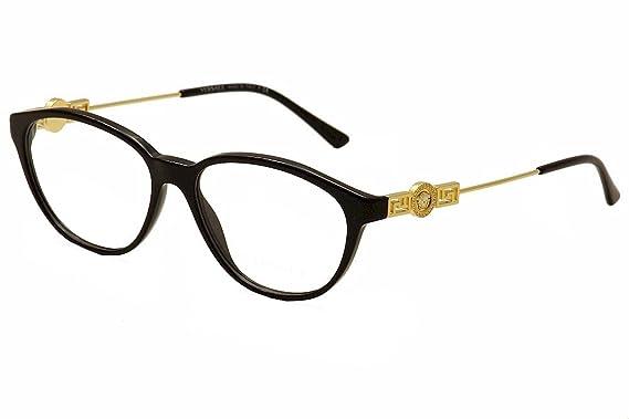 f9808ab1a060 Amazon.com  Versace VE3215 Eyeglass Frames GB1-54 - Black VE3215-GB1 ...