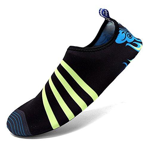 Lxso Herren Damen Schwimmen Schuhe Quick Dry Aqua Wasser Socken Hausschuhe Leichte Barfuß Haut Schuhe Für Strand Pool Schwarz