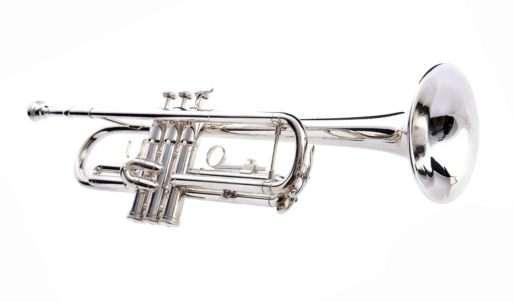 Hawk WD-T313 Bb Trumpet with Case and Mouthpiece, Silver Plated by Hawk (Image #2)