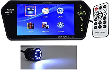 Woodman 7SLEDC 7-inch Car LED Screen with USB and Bluetooth (Black) at amazon