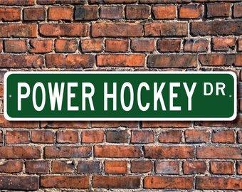 Custom Power Wheelchair (Power Hockey, Power Hockey Sign, Power Hockey Fan, Power Hockey Player Gift, Power Wheelchair Hockey, Custom Street Sign, Quality Metal Sign)