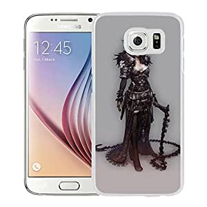 New Custom Designed Cover Case For Samsung Galaxy S6 With Gothic Warrior Girl Fantasy Mobile Wallpaper (2) Phone Case