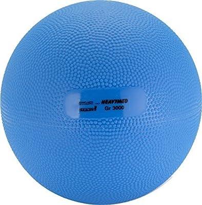 Gymnic Heavymed 3 - Balón Medicinal (17 cm, 3 kg), Color Azul ...