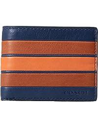 mens coach wallet outlet htc0  COACH Mens Varsity Stripe Slim Bifold