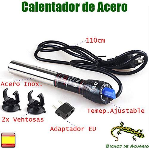 Calentador para Acuario de Acero Inoxidable 200w Adaptador EU, 100-200 litros: Amazon.es: Productos para mascotas