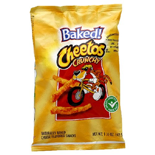 Baked Cheetos Cheese Snacks, Crunchy, 1.5-Ounce Large Single Serve Bags (Pack of 64)