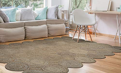Couristan 72933028060090T Nature's Elements Henge-Straw Area Rug, 6' x 9'