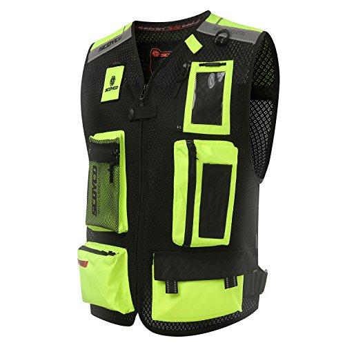 (Scoyco JK46 Men's Motorcycle Auto Racing Vest (L, Green))