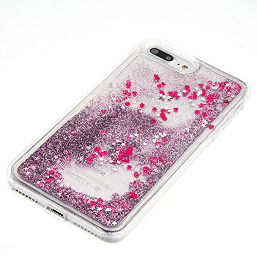 "TOCASO Silicona Suave Funda Ultra Delgado para iPhone 7 Plus / 8 Plus 5.5"" Case Funda Carcasa Case Bumper [Anti-Arañazos] Flexible Piel Resistente Slim fit Silicona Ultra suave Case líquido de silicon Púrpura"