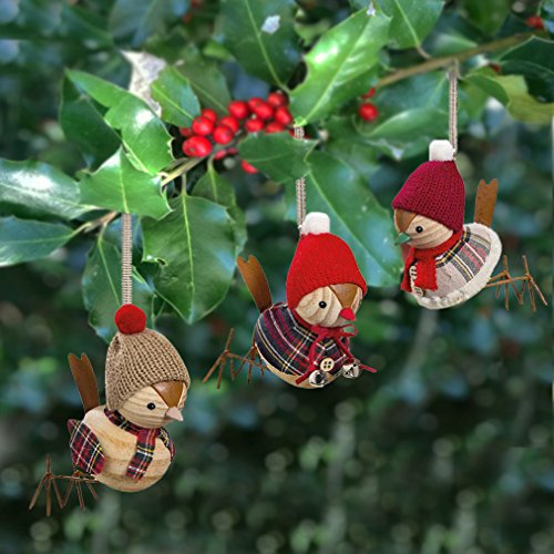 Wooden Bird Ornament - 7