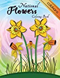 National Flowers Coloring Book: Easy Flower