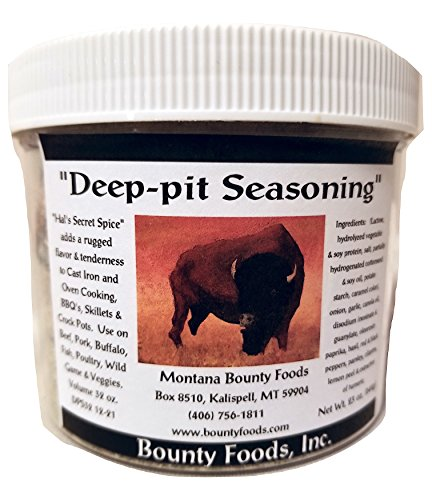 Montana Original Western Rub Seasoning - Deep Pit Gourmet 32 oz Jar - Bounty Foods Bring Out Natural Flavors of Meat - Buffalo - Pork - Beef - Fish - Chicken & Poultry - Grilling - Be a BBQ Pitmaster