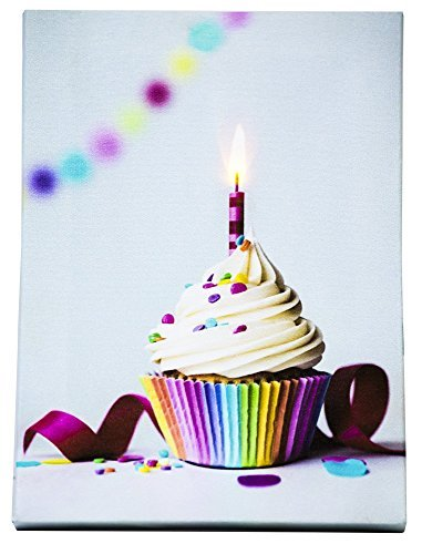 (OSW 6 x 8.25 Birthday Anniversary Any Celebration Recordable LED Greeting Card Tabletop Stand or Hang)