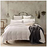 White King Size Duvet Cover Doffapd Duvet Cover King, Washed Cotton Duvet Cover Set - 3 Piece (King, Off-White)