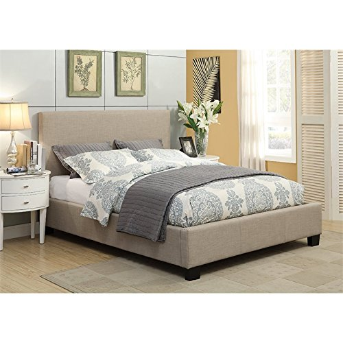 Furniture California King Modus Bed (Modus Furniture 3ZL7D68 Furniture Saint Pierre Linen Platform Storage Bed, California King, Toast)