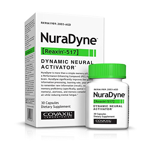 Covaxil NuraDyne - Smart Pill for Memory and Cognitive Enhancement, Enhanced Energy, Reduced Fatigue, Faster Information Processing and Learning*, (30 count)
