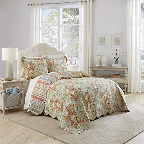 WAVERLY Spring Bling Bedspread Collection, 110x120, Vapor - Bouquet Waverly Ballad