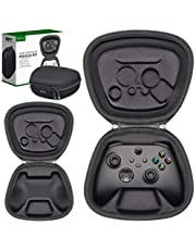 Sisma Game Controller Holder Travel Case for Official Xbox Series X or S or Xbox Core Wireless Controller, Hard Shell Protective Cover Storage Case Carry Pouch Fit -Black