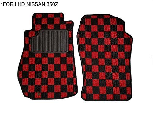 350z Floor Mats - Kei Project 03-09 Fabric Custom Fits Nissan 350Z Z33 Floor Mats Interior Carpets LHD