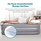 Air Mattress with Built-in Electric Pump, Sable Twin size Inflatable Airbed for Camping, Travelling, Overnight Guests, Height 20 Inches