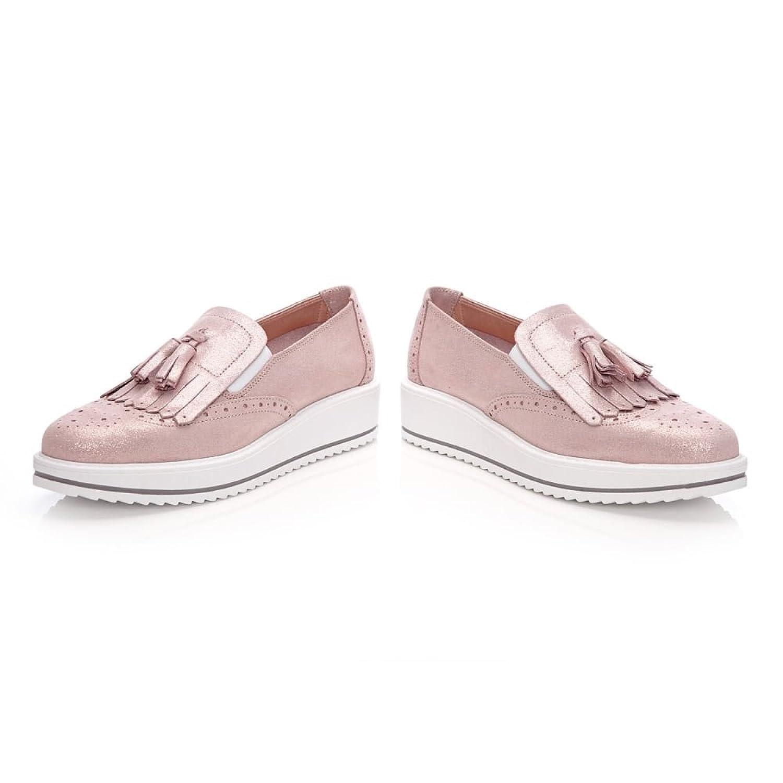Damen Sneaker Pink Rose, Pink - Rose - Größe: 37 Moda in Pelle