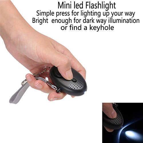 HXDZFX Emergency Personal Alarm,140DB Self-Defense Electronic Device Security Alarm Keychain With LED Light for Women Kids Girls Elderly Safety - 3 Pack by HXDZFX (Image #3)