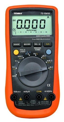 Professional TRMS Digital Multimeter with 6000 Count Display by Tenma